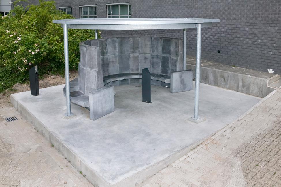 Rookpaviljoen PWN, Haarlem, hardsteen, grijs, ontwerp, design