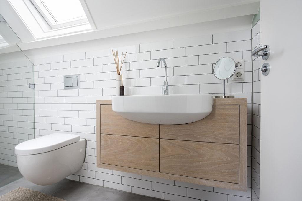 badkamer op maat, zolder