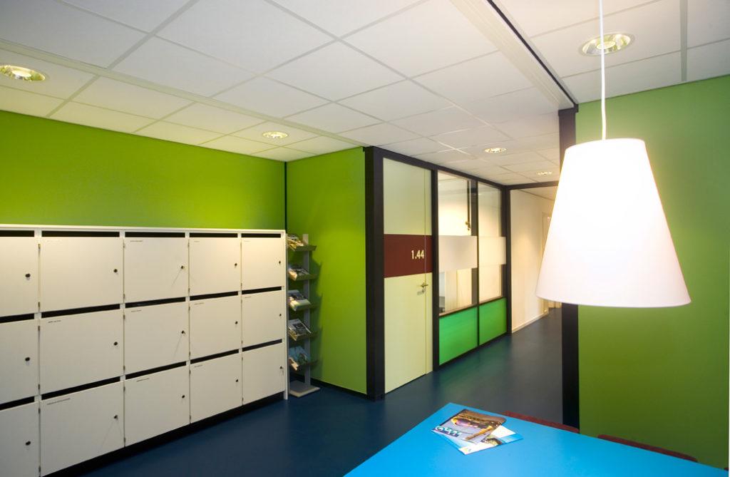 kantoor, groen, blauw, interieur, interieuradvies, Terstal