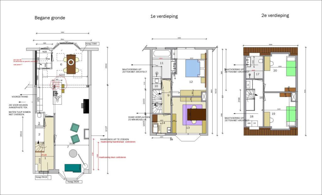 plattegrond huis door Terstal Interieurarchitectuur