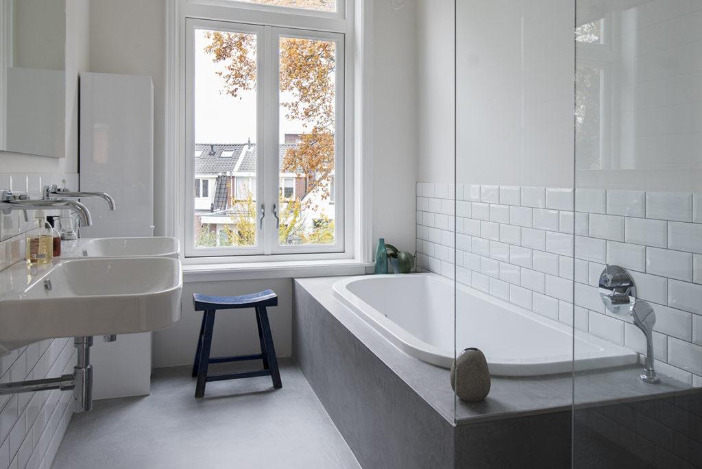 badkamer, ontwerp, indeling, kleuradvies, wit, grijs