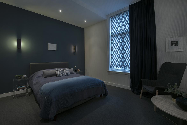 slaapkamer, blauw, nachtblauw, kleuradvies, groenblauw